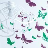 красивые бабочки в дизайне спальни фото