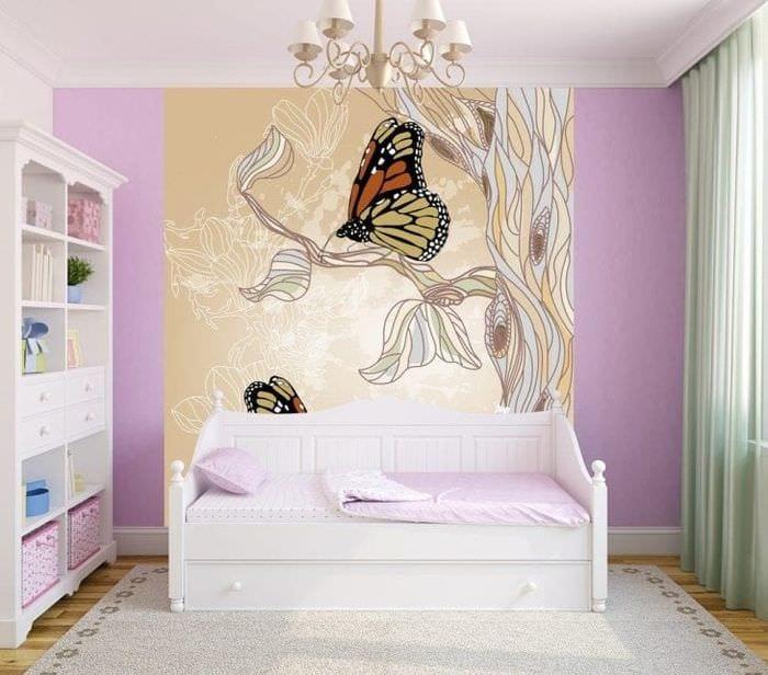 красивые бабочки в интерьере комнаты