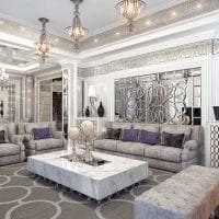 красивый ар деко дизайн квартиры картинка