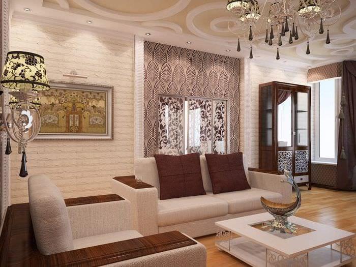 светлый ар деко дизайн квартиры