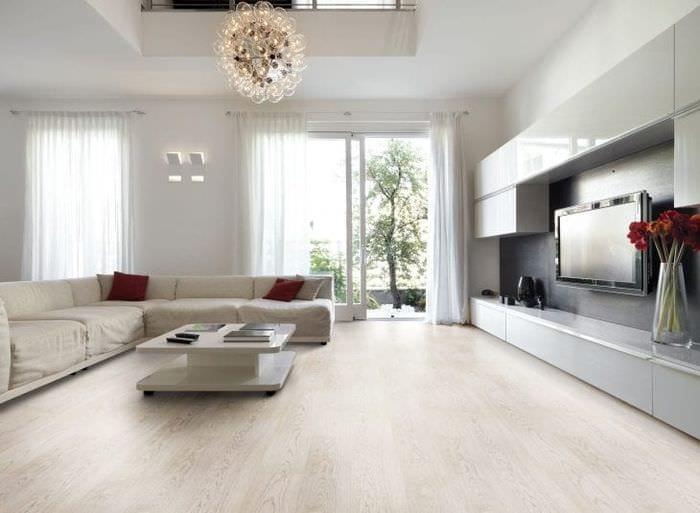 светлый белый дуб в стиле коридора