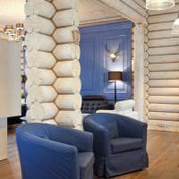 светлый белый дуб в стиле гостиной картинка