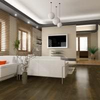 красивый белый дуб в интерьере спальни картинка