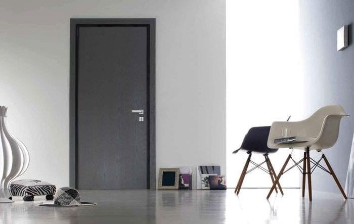 Темно-серые двери в интерьере фото