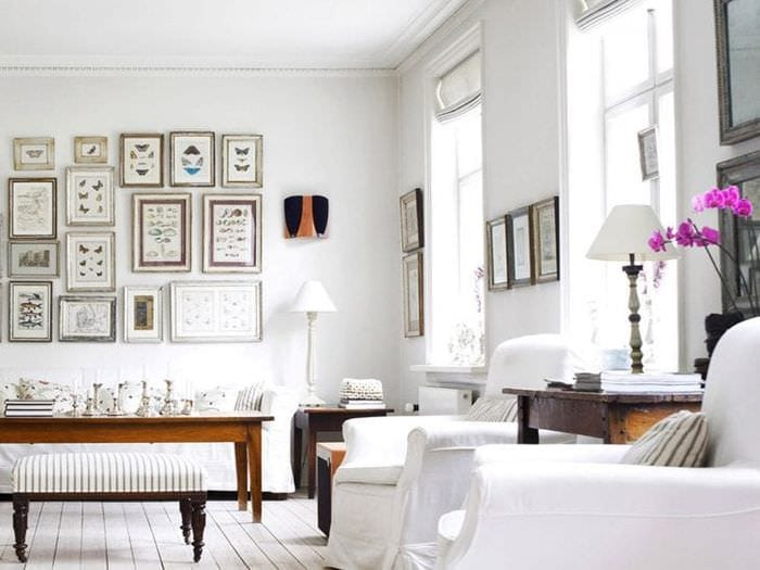 яркий белый пол в стиле квартиры