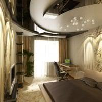 натяжной черный потолок в дизайне коридора фото