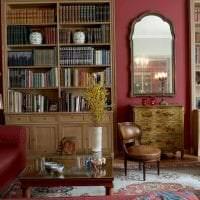 шикарный цвет марсала в дизайне комнаты картинка