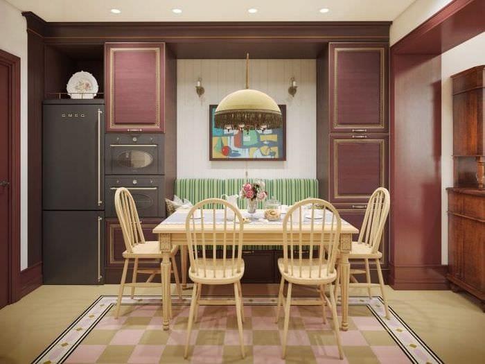 шикарный цвет марсала в дизайне спальни