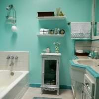 красивый цвет тиффани в дизайне комнаты фото