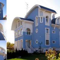яркий интерьер дома в архитектурном стиле фото