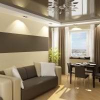 яркий интерьере квартиры в шоколадном цвете фото