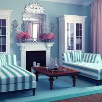 яркий стиль квартиры в бирюзовом цвете картинка