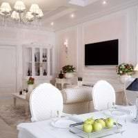 светлый дизайн кухни в французском стиле фото