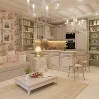 красивый декор коридора в стиле шебби шик картинка