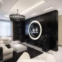 красивый стиль квартиры в черном цвете фото