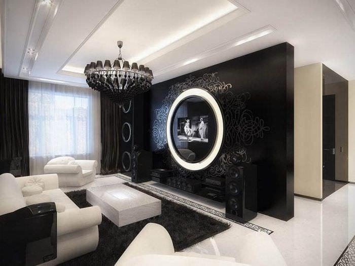 Дизайн квартир черно белый стиль