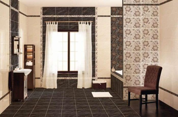 яркий дизайн спальни в шоколадном цвете