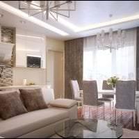 красивый декор гостиной в цвете кофе с молоком картинка