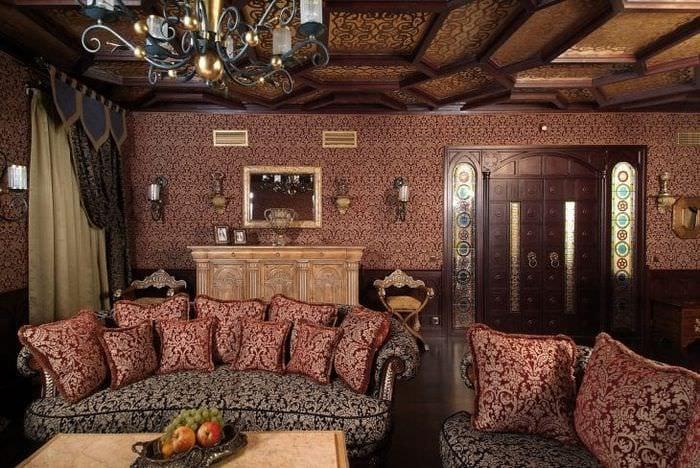 светлый интерьере спальни в этническом стиле