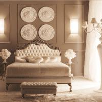 светлый декор гостиной в французском стиле фото