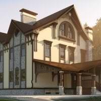 светлый дизайн дома в архитектурном стиле фото