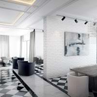 яркий интерьер кухни в белом цвете картинка