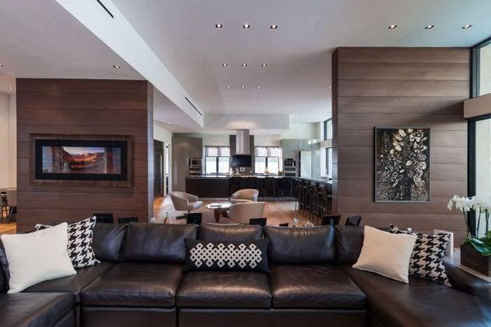 красивый декор квартиры в шоколадном цвете