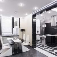 красивый интерьер гостиной в стиле хай тек картинка