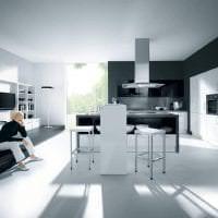 изысканный стиль кухни в черном цвете фото