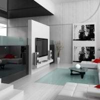 светлый дизайн коридора в белых тонах картинка