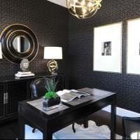 необычный дизайн прихожей в черном цвете картинка