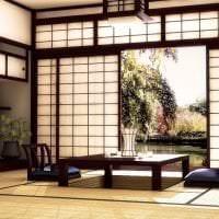 светлый дизайн кухни в японском стиле картинка