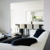 светлый дизайн кухни в белом цвете фото