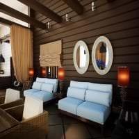 красивый интерьере квартиры в шоколадном цвете фото