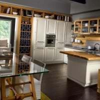 светлый эко стиль кухни фото