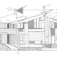 яркий стиль загородного дома в архитектурном стиле картинка