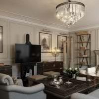 светлый дизайн спальни в американском стиле фото