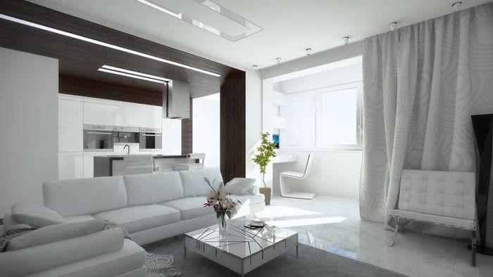 красивый дизайн прихожей в белых тонах