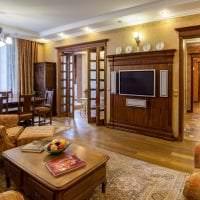 яркий декор гостиной в английском стиле картинка