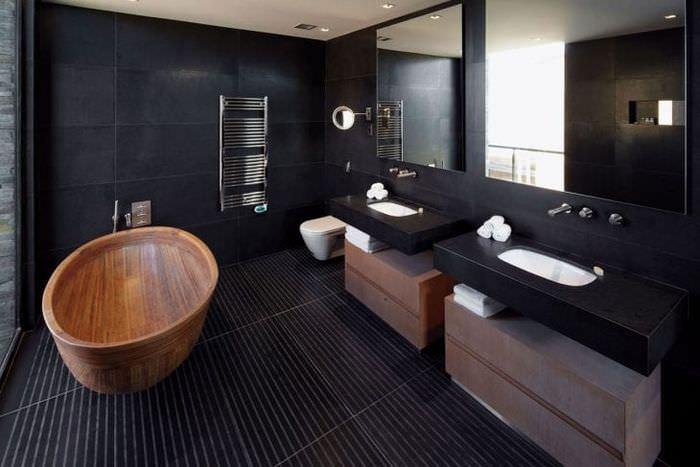 необычный декор квартиры в черном цвете