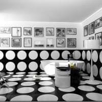 шикарный интерьер гостиной в черно белом цвете картинка