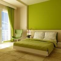 красивый дизайн спальни в различных тонах картинка