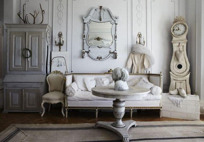 красивый интерьер спальни в стиле шебби шик