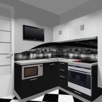 яркий стиль белой кухни с оттенком серого картинка