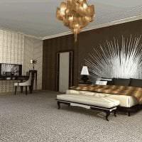 светлый интерьер комнаты в стиле деко арт картинка
