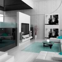 красивый интерьер квартиры в стиле хай тек фото