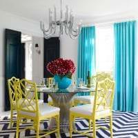светлый стиль спальни в бирюзовом цвете фото