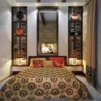 яркий интерьере гостиной в этническом стиле фото