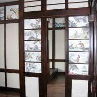 светлый декор гостиной в японском стиле картинка