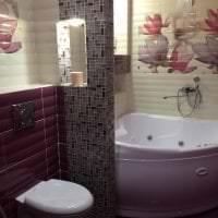светлый декор ванной комнаты с душем в темных тонах картинка